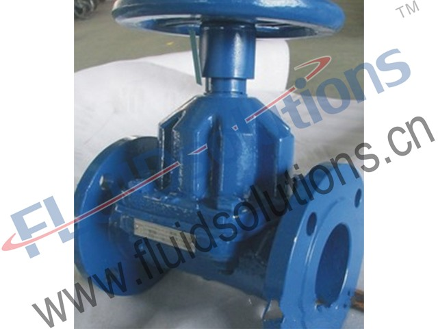 Fluorine Lined Straight Diaphragm Valve